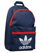 Adidas Originals Trefoil Classic Backpack, Rucksack, School /Gym Bag In Navy/Red