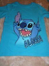 Small 5/6  Stitch ~ Aloha ~ Blue Disney Tee Shirt NWT