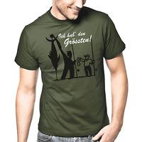 Ich hab' den Grössten Angler Sprüche Geschenk Lustig Spaß Comedy Fun T-Shirt