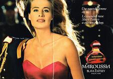 PUBLICITE ADVERTISING 034  1992   SLAVA ZAITSEV   parfum MAROUSSIA ( double page