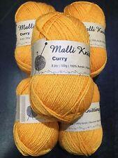 3 X 100g - Malli 8ply Acrylic Knitting Crochet Yarn Possum Pink Machine Wash