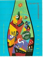 1995 Perrier Sparkling Mineral Water Vintage Magazine Ad