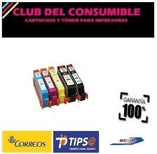 5 X CARTUCHOS COMPATIBLES HP 364XL CON CHIP PHBK/BK/C/M/Y NON OEM