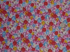 COTTON STRETCH JERSEY - BRIGHT FLORAL -DRESS FABRIC - 1.5 METRES