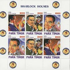 Sherlock Holmes Sharlock Holmes Timor Oriental Sello de menta sheetlet