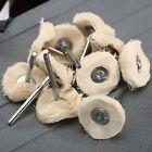10pcs Cloth Cotton Pad Polishing Shank Wheel Dremel Rotary Tool Set Accessories