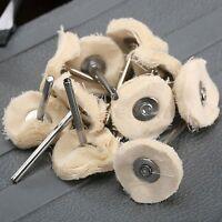 10pcs Cloth Cotton Pad Polishing Shank Wheel Rotary Tool Set Accessories