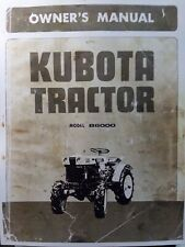 Kubota B6000 Diesel 4x4 Amp 2wd Farm Tractor Owner Operator Amp Parts Manual