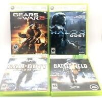 Xbox 360 Lot Gears of War 2 Halo 3 ODST Call of Duty World At War Battlefield 3
