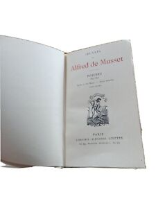 Livres anciens Alfred De Musset Poésies 1835-1852