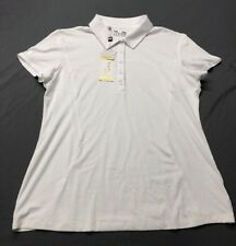 Under Armour Women's Golf Shirt Polo (XL, White)(Blemish)(NWT) MSRP $55