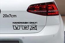 Hand Wash Only 20x7cm Handwäsche Autoaufkleber Sticker Bomb JDM OEM Tuning A002