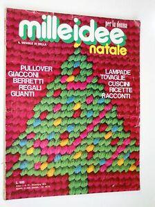 MILLEIDEE   Natale   dicembre 1974 -- Regali, Tovaglie , Cuscini, Pullover....
