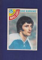 Dave Burrows 1978-79 O-PEE-CHEE Hockey #254 (NM)