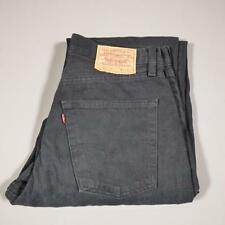 Mens Black LEVI STRAUSS 507 W31 L32 Vintage Tapered Denim Jeans 507s #C2205