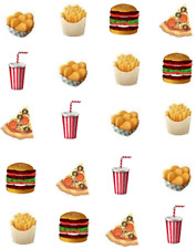 Fast Food Waterslide /Water Transfer Nail Decals/Nail art