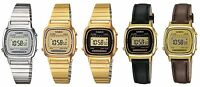 Casio Collection Digital Alarm Chronograph Ladies Watch Blue Gold Brown Black