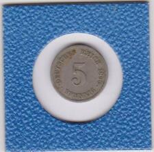 5 Pfennig 1890 G Deutsches Reich German Empire seltener