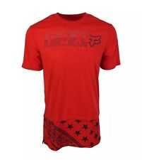 Fox Racing Men's T-shirt Extra Length Fit In Red Front Logo Size XS