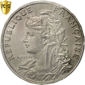 [#96406] France, Patey, 25 Centimes, 1904, Paris, PCGS, MS66, Nickel, KM:856