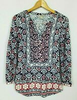 Lucky Brand Women's Small Boho Long Sleeve Knit Tunic Top