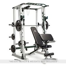 Marcy Deluxe Cage with Smith Machine, Olympic Rack, and Cable Pulley System