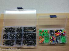Sea Fishing Kit.Over 600 Items.Splits,Beads,Swivels,Crimps & Hooks + Free Gift