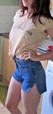 Super cute CALVIN KLEIN high-waisted denim shorts, altered, small size 28