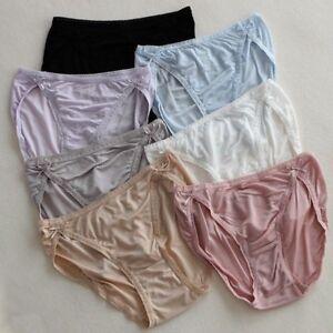 100% Pure Silk Ladies Briefs Panties Knickers Underpants Lingerie Underwear Lace