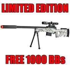 Airsoft Sniper Rifle Gun w/ Scope Bipod AWP Spring Bolt P2703A Free BB EXCLUSIVE