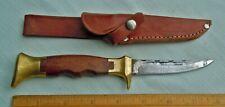 Vintage Olsen Knife Co. Solingen Germany Hunting Knife w/Leather Sheath
