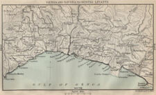 RIVIERA DI LEVANTE. Savona-Genoa-Portofino-Sestri Levante. Genova Italy 1890 map