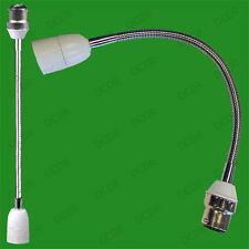 2x 300mm B22 to E14 Flexible Lamp Holder, Orientational Light Bulb Extension