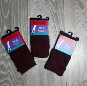 SALE!!! 3X Spanx Topless Legband Free Knee High Trouser Socks Burgundy One size