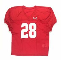 New Under Armour Men's Large Football Stock Pipeline Practice Jersey Red #28