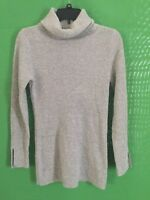 8119)  BANANA REPUBLIC sz x-small gray pullover turtleneck wool blend sweater XS