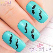 Moustache Taxh Moustashe Nail Water Decal Stickers,, Art, Tattoos 01.03.117