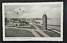 1954 Stuttgart Germany Cuxhaven Lighthouse Illustrated Postcard