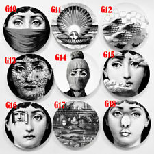 """Simple Fornasetti Wall Hanging Plate Vintage Piero 8"""" Italy Art Beauty Craft"""