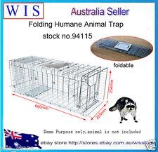 Folding Humane Possum Trap,Rabbit,Squirrel,Rat,Mink,Vermin Animal Trap Cage94115