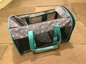 Dog or Cat Pet Carrier with Shoulder Strap, Carry Handles & Zip Opening Top/Side