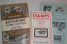 3 Three Vintage Collectible Stamp Catalog '74-'76 Brookman Kenmore Free Ship