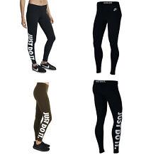 Nike Womens Just Do It Black Olive Sportswear Gym Fitness JDI Leggings S M L XL