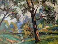 Original Earl W. North (1904-1989) Painting- Listed Ohio Artist- Landscape Trees