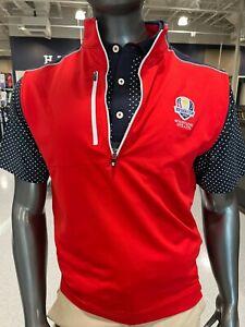 Footjoy Men's Golf Vest Pullover 1/2 Zip Ryder Cup Whistling Straits 2020