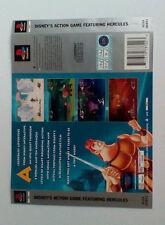 * Retour Inlay seulement * Disney's Hercules dos Inlay PS1 psone playstation