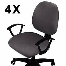 Voilamart 4 Pack Office Computer Desk Chair Seat Covers Removable Universal