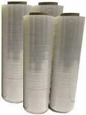 Pallet Wrap Stretch Film Shrink Hand Wrap Clear 4 Rolls 18 x 1500 80 Gauge PVC
