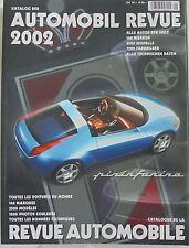 Automobil Revue Alle Auto Der Welt Toutes les Voitures Du Monde  Book 2002