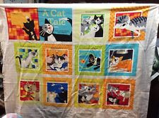 A Cat's Tale soft book fabric panel, pattern 3052P